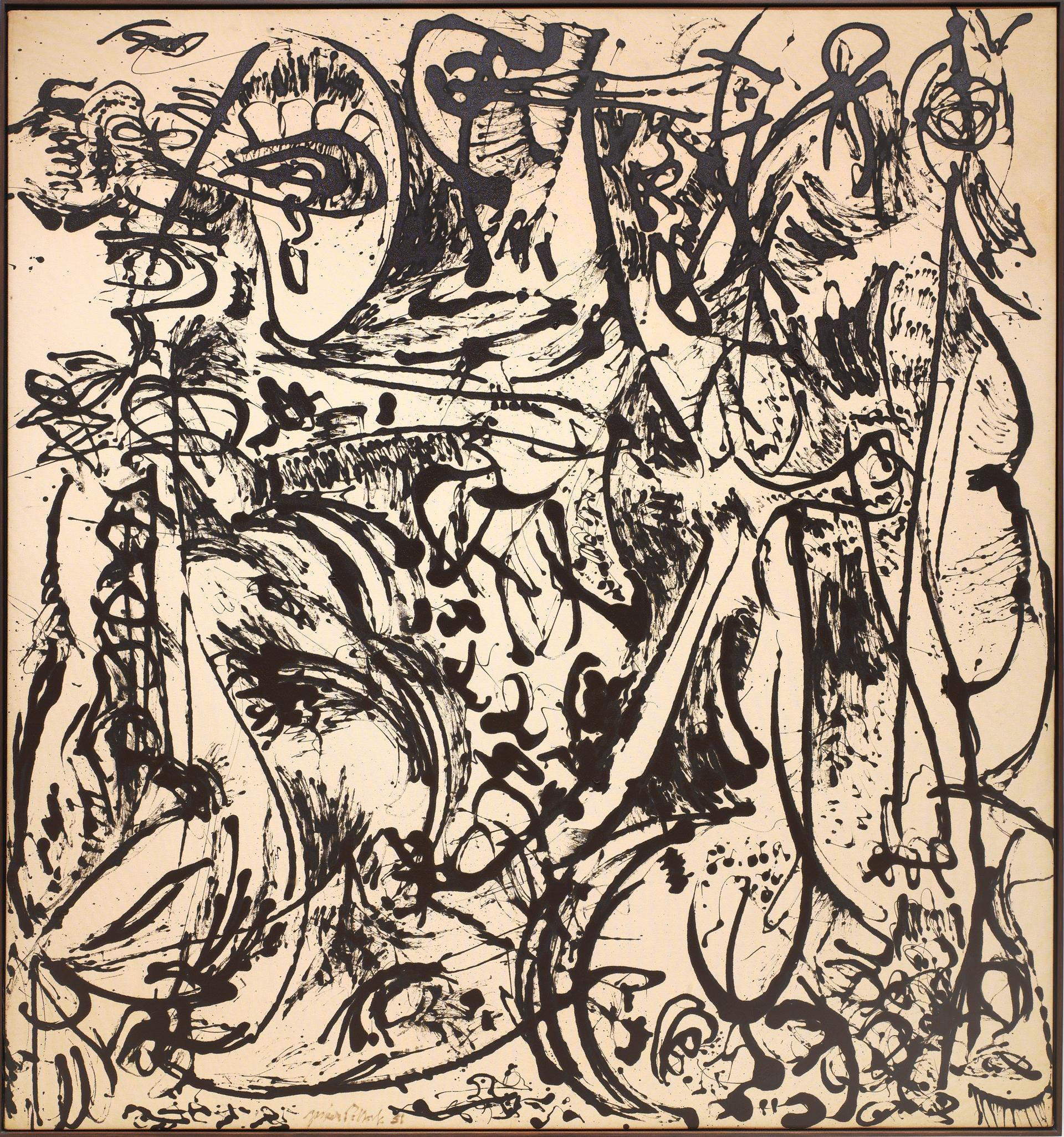 little known pollock brought to light in dallas the boston globe ldquoecho number 25 1951 rdquo by jackson pollock